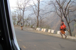 Sadhus on the way to Kedarnath