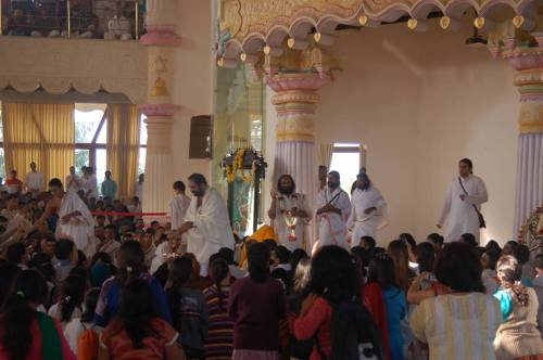 Rudra Puja with Guruji - 6th Jan 2014 at VM